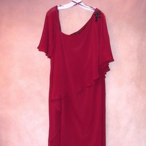 Assymetrical Burgundy Cocktail Dress Size 22W